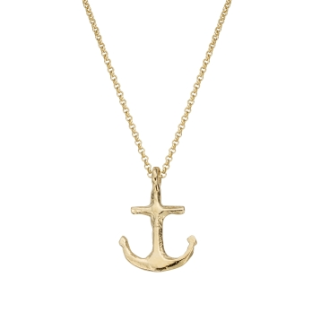 Gold Midi Anchor Necklace
