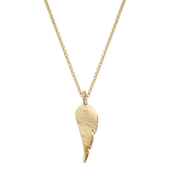 Gold Midi Angel Wing Necklace
