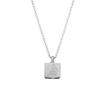 Silver Medium Aquarius Horoscope Necklace