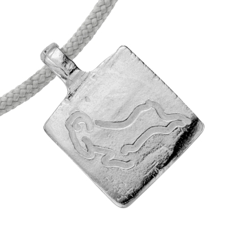 Silver Medium Aries Horoscope Sailing Rope detailed