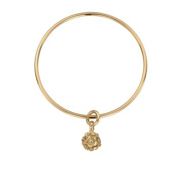 Gold Medium Yorkshire Rose Bangle