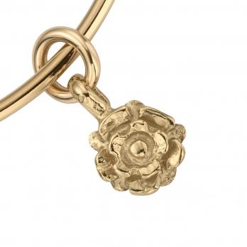 Gold Medium Yorkshire Rose Bangle detailed