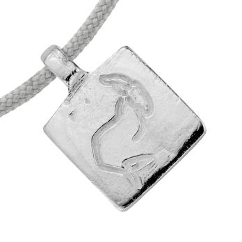 Silver Medium Capricorn Horoscope Sailing Rope detailed