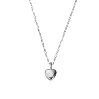 Silver Midi Grateful Heart Necklace