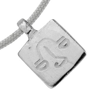 Silver Medium Libra Horoscope Sailing Rope detailed