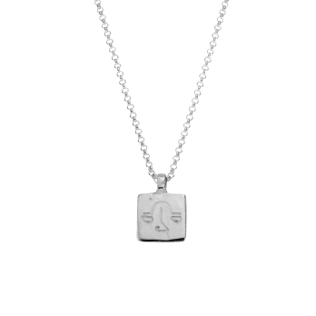 Silver Medium Libra Horoscope Necklace