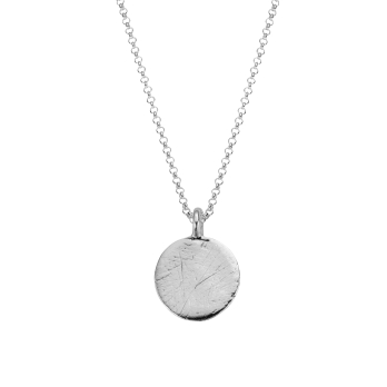Silver Large Moon Necklace