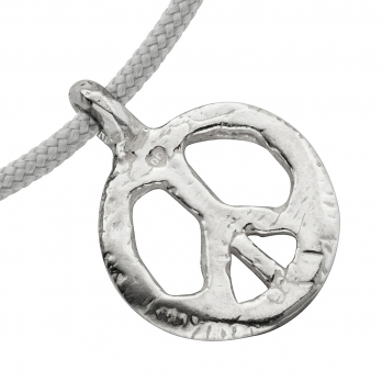 Silver Medium Peace Sailing Rope detailed