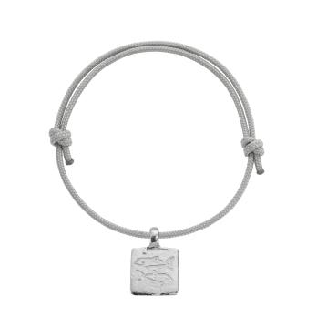 Silver Medium Pisces Horoscope Sailing Rope