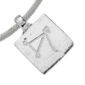 Silver Medium Sagittarius Horoscope Sailing Rope detailed