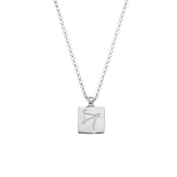 Silver Medium Sagittarius Horoscope Necklace