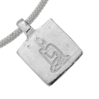 Silver Medium Virgo Horoscope Sailing Rope detailed