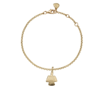 Gold Mini Angel Chain Bracelet