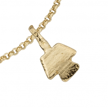 Gold Mini Angel Chain Bracelet detailed
