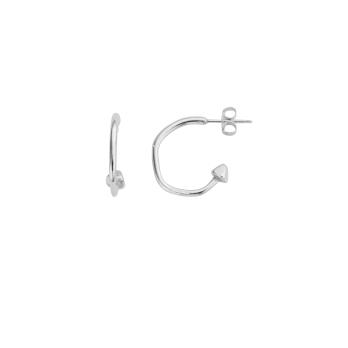 Silver Mini Cupid Hoop Earrings detailed