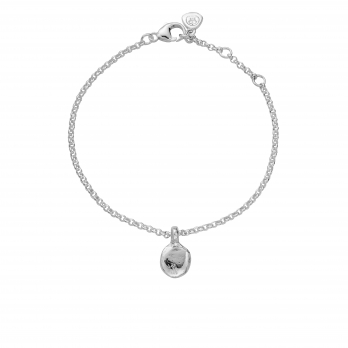 Silver Mini Disc Chain Bracelet