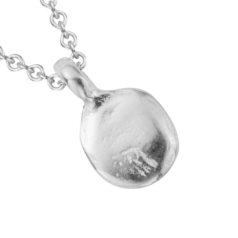 Silver Mini Disc Necklace detailed