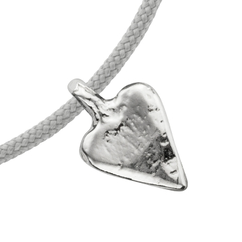 Silver Mini Heart Sailing Rope detailed