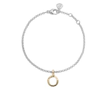 Silver & Gold Mini Open Circle Chain Bracelet