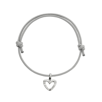 Silver Mini Open Heart Sailing Rope