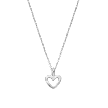 Silver Mini Open Heart Necklace