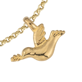 Gold Mini Turtle Dove Chain Bracelet detailed