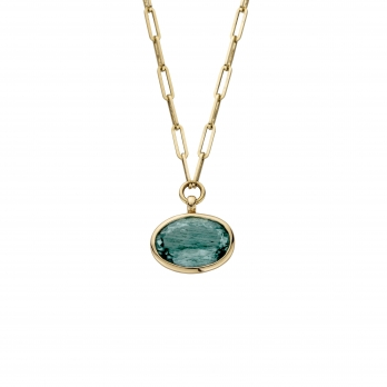 MIRA Gold Aquamarine Star Necklace