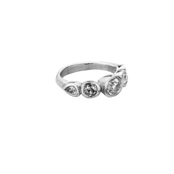 MONT BLANC Platinum Diamond Ring