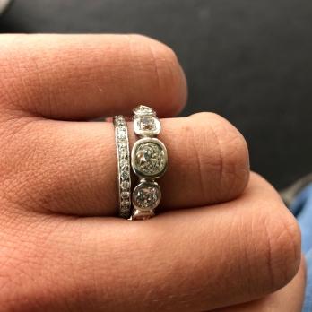 MONT BLANC Platinum Diamond Ring detailed