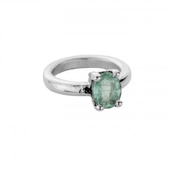 ORNA Silver Emerald Claw Ring