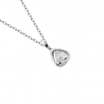 PETITE MONTAGNE White Gold Antique Diamond Necklace detailed