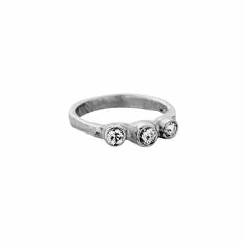 Platinum Diamond Trinity Ring