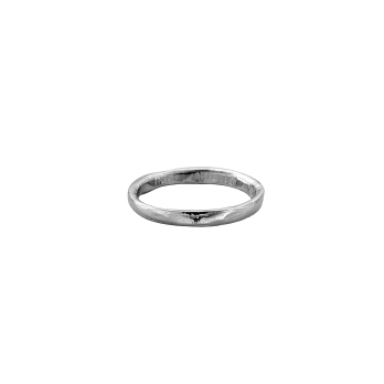 Ladies Platinum Mini Posey Ring