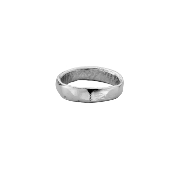 Mens Platinum Midi Posey Ring