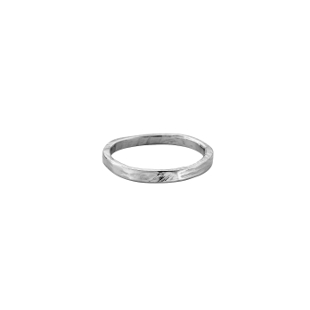 Mens Platinum Mini Posey Ring