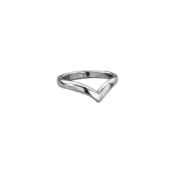 Platinum Ladies Wishbone Wedding Band