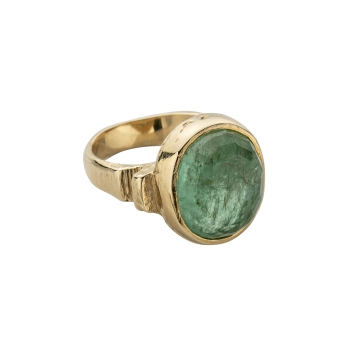 ROMAN Gold Emerald Ring