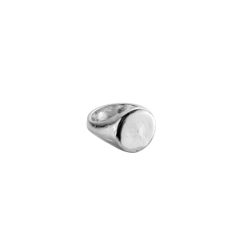 Silver Round Signet Ring