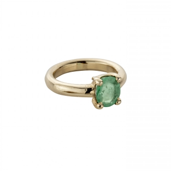 SEDNA Gold Emerald Claw Ring