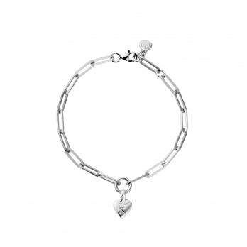 Silver Baby Heart Trace Chain Bracelet