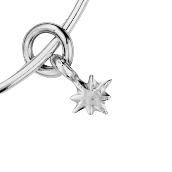 Silver Baby North Star Bangle detailed