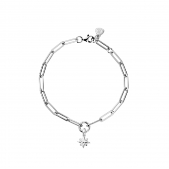 Silver Baby North Star Trace Chain Bracelet