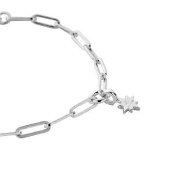 Silver Baby North Star Trace Chain Bracelet  detailed