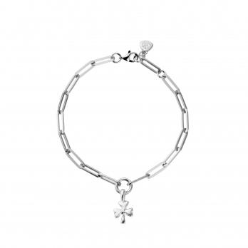 Silver Baby Shamrock Trace Chain Bracelet