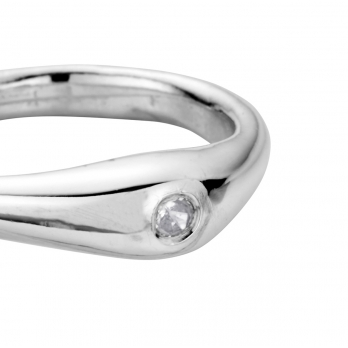 Silver Diamond Stack Ring detailed