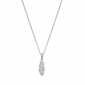 Silver Mini Feather Necklace