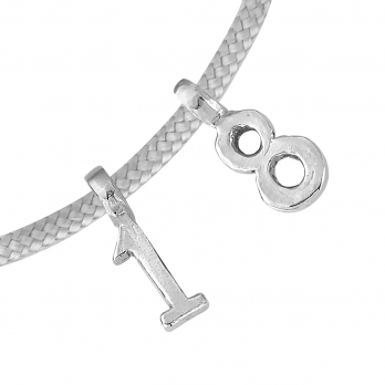 Silver Birthday Sailing Rope detailed