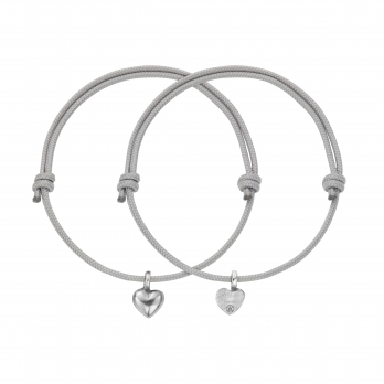 Silver Think of Me Heart Sailing Rope Bracelets