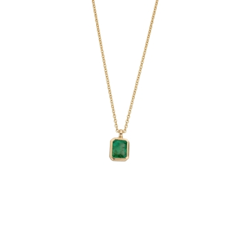 TATIANA Gold Emerald Necklace
