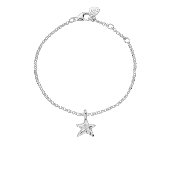 Silver Mini Star Chain Bracelet